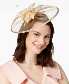 August Hats Jade Fascinator Handbags   Accessories - Macy s c1ed61a0791