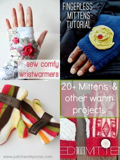 11 Winter Mittens | patchwork posse | easy sewing projects and free quilt patterns