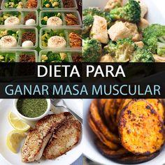 El objetivo de implementar una dieta para ganar masa muscular es ayudar a generar tejido muscular magro. Es importante planearla para ingerir los alimento