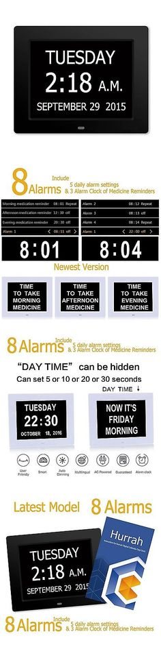 Alarm Clocks 79643: 5 Daily Alarms And 3 Medicine Reminder - Hurrah Extra-Large Memory Loss Digital... -> BUY IT NOW ONLY: $57.34 on eBay!