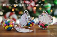 Free Printable Blowing Christmas Wishes