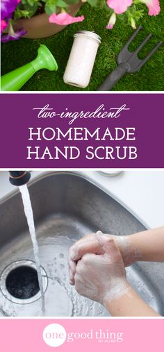 This hand scrub is gentle on hands, but tough on grease and grime. It's effective, easy to make, and makes a great gift, too!