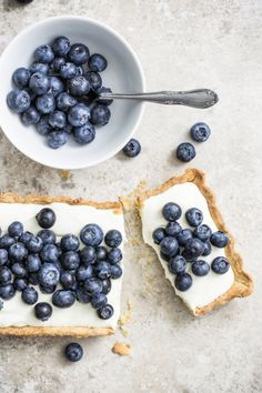 ... blueberry and lemon mascarpone tart