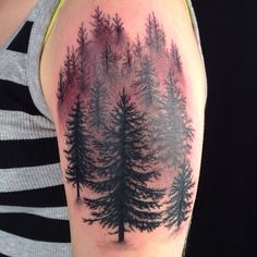 Amazing forest tattoo by the talented Matthew Amey located at Independent Tattoo studio on the eastern shore in Maryland.