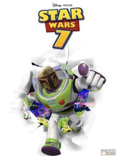 affiches de star wars vii toy story   Affiches de Star Wars VII inspirées dautres films   Starwars star wars photoshop photo parodie mashup ...