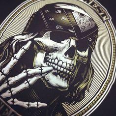 ogabel:    Early #ogabel Benji Skull design (Taken with instagram)