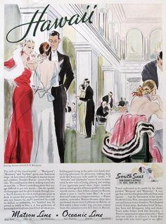 Matson Lines, House & Garden Oct 1933, #RetroReveries
