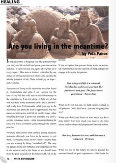 """Article on """"Are you living in the meantime?"""" featured in Mystik Way Magazine Travel Info, Finding Yourself, Lion Sculpture, Magazine, Life, Inspiration, Biblical Inspiration, Magazines, Inhalation"""