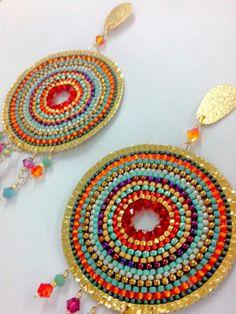 Ear Jewelry, Seed Bead Jewelry, Seed Bead Earrings, Jewelry Crafts, Beaded Jewelry, Boho Jewelry, Jewelry Making, Beaded Earrings Patterns, Beading Patterns