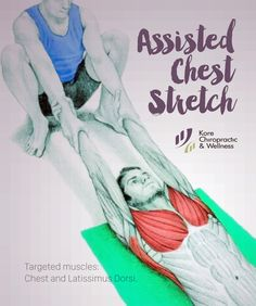 Assisted Chest #Stretch  Targeted muscles: Chest and Latissimus Dorsi.  For performing this #exercise you'll need a partner. First, lay down on the floor with your palms facing up. Let your partner take you by the hands and sit in a deep #squat. You'll feel your chest muscles and lats #stretching nicely.  At the same time, you should feel slight traction in your spine. This stretch should be avoided in cases of shoulder impingement.  #stretches #rehabilitation