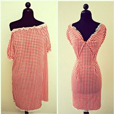 old, shapeless dress turned into a fitted dress.  This is a good skill set to have to be able to transform old clothing into a newer version.
