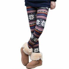 Amazon.com: Winter Fashion Christimas Ladies Womens Leggings Snowflake Knitting Leggings (Multicolor snowflakes): Clothing