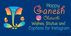 Ganesh Chaturthi Instagram captions and Ganpati messages. Ganpati bappa caption, Ganesh Chaturthi status messages, wishes, hashtags for Instagram. Ganesh Chaturthi Messages, Ganesh Chaturthi Status, Ganpati Visarjan, Ganpati Bappa, Cool Captions, Hashtags, Wish, Instagram