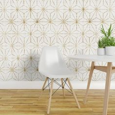 Gold Wallpaper - Gold Star By Crystal Walen - Gold Geometric Star Custom Printed Removable Self Adhesive Wallpaper Roll by Spoonflower Embossed Wallpaper, Gold Wallpaper, Brick Wallpaper, Wallpaper Panels, Self Adhesive Wallpaper, Wallpaper Roll, Peel And Stick Wallpaper, Office Wallpaper, Wallpaper Ideas