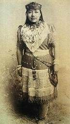 """Sarah Winnemucca (born Thocmentony or Tocmetone, Paiute: """"Shell Flower"""") (ca. 1844 – October 16, 1891) was a prominent female Paiute activist & educator; she helped gain release of her people from the Yakima Reservation following the Bannock War of 1878, lectured widely in the East in 1883 on injustices against Native Americans in the West, established a private school for Indian students in Nevada & was an influential figure in development of United States' 19th-century Indian policies."""