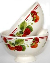 Love vintage French faience cafe au lait bowls!! From French Garden House website