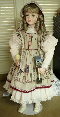 Jane  Handmade Porcelain Doll Designed by Thelma by EsthersArts, $250.00