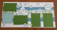 Spring Scrapbook pages using Watercolor Wonder paper. www.lakeviewstampers.stampinup.net