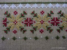 Toile de lin et petites croix