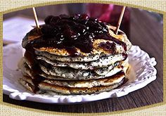 Blueberry on Blueberry! Blueberry Chia Pancakes With Blueberry Sauce http://earthlychoice.com/recipes-chia-seeds.html
