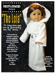 Princess Leia's Senatorial Gown Pattern for American Girl Dolls