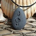 Marthas Vineyard Beach stone pendant