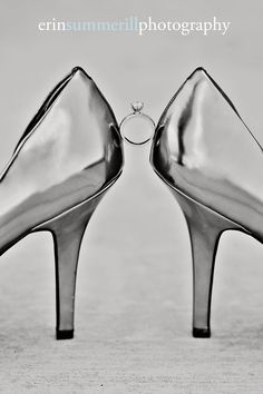 Shoes and a ring.  What else does a girl need to get married?  //  Erin Summerill Photography