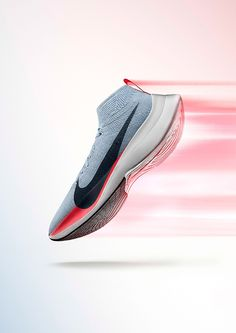 huge discount c9f80 b8a0f Nike Zoom Vaporfly Elite Shoe Advertising, Fashion Advertising, Running  Posters, Shoe Poster,