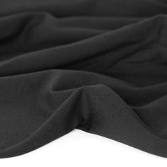 Cotton Modal Jersey Knit - Black   Blackbird Fabrics Blackbird, Knitting, Yarns, How To Wear, Cotton, Fabrics, Healthy, Products, Tejidos