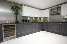 Modern Shaker Kitchen, Kitchens, Kitchen Cabinets, New Homes, Board, Home Decor, Decoration Home, Room Decor, Cabinets