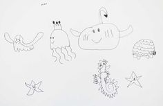 Guided Drawing Sea Life project from HeidiSongs- free download!