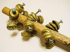 Handmade Shake Rattle Tambourine Maracas Musical Instrument by luvvinjewels on Etsy