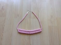 Cotton necklace. Knot necklace. pink necklace. more by Kreseme