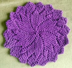 Knitted washcloth Sweet!!!