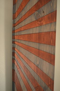 Wood wall art LEATHER WRAPPED SEPTEMBER by StainsAndGrains