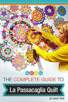In our complete beginners guide you'll find everything you need to get started with the La Passacaglia Quilt in one convenient location! Quilting Tutorials, Quilting Projects, Quilting Designs, Paper Piecing Patterns, Quilt Patterns, Millefiori Quilts, Kaleidoscope Quilt, Hexagon Quilt, English Paper Piecing