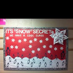 snow winter bulletin board