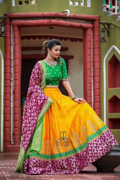 Half Saree Designs, Lehenga Designs, Saree Blouse Designs, Pakistani Fashion Party Wear, Indian Fashion, Indian Bridal Outfits, Indian Dresses, Lehenga Color Combinations, Lehenga For Girls