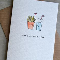 Personalised 'Fast Food In Love' Valentines Card - shop by category