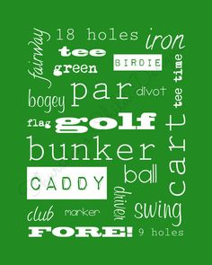 Golf Art Print INSTANT Digital Download Golf by ByThursdaysChild