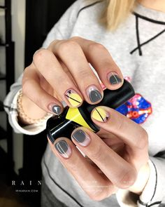 Short Nail Designs: Nail Art Designs for Short Nails to Try Great ready to book your next manicure, New Nail Designs, Black Nail Designs, Short Nail Designs, Minimalist Nails, Pink Nails, My Nails, Yellow Nails, Fall Nails, Matte Nails