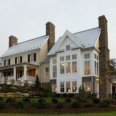 Traditional Farmhouses Exterior Design Ideas, Pictures, Remodel and Decor