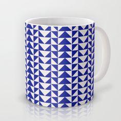 Blue Folk Art Mug by