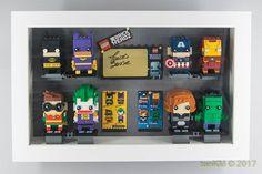 Ikea and Lego (Part - Ribba and Kasseby Lego Shelves, Lego Storage, Vitrine Lego, Lego Display, Display Ideas, Lego Head, Lego Room, Lego Parts, Cool Ideas
