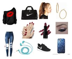 """""""Work out"""" by cookiemonsterb ❤ liked on Polyvore featuring NIKE, ASOS, Bony Levy, FOSSIL, women's clothing, women's fashion, women, female, woman and misses"""