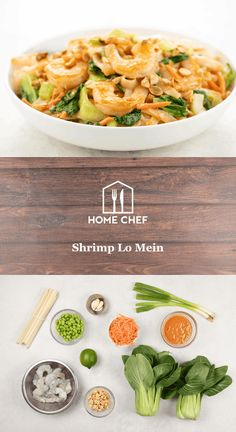 Chinese Coleslaw, Lo Mein Noodles, Roasted Peanuts, Lentil Recipes, Noodle Bowls, Smoked Bacon, Recipe Steps, How To Cook Shrimp, Home Chef