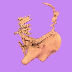It's not the season but here's a #reindeer. Might be the next #sculpture those #antlers are going to be rough.  #c4d #cinema4d #render #taxonomica #caribou #glitch #glitchart #art #3dscanning #3dprinting by a_d_r_n