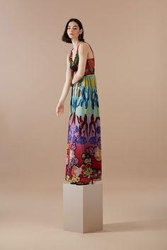 9c24f6efa3 LONG V-NECK DRESS CLAVELITOS DESIGNED BY M. CHRISTIAN LACROIX. This long  dress