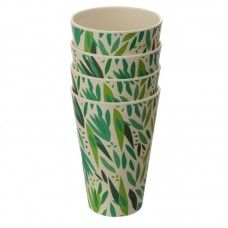 Willow Eco Friendly Cup Set of 4 Eco Friendly Cups, Bamboo Cups, Picnic Set, Enchanted Home, Willow Tree, Al Fresco Dining, Cupping Set, Home Gifts, Safe Food