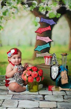 Alice in Wonderland Vintage Cameo Romper by LacedWithLoveShop Smash cake session